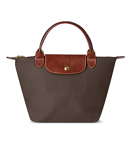 LONGCHAMP Le Pliage small handbag in taupe (Taupe