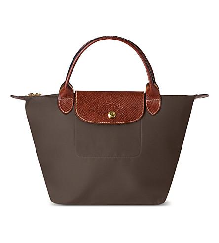 LONGCHAMP Le Pliage small handbag in taupe (Taupe
