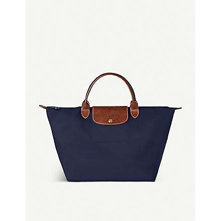 LONGCHAMP Le Pliage medium handbag in navy (Navy