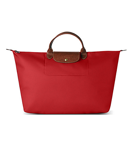 LONGCHAMP Le Pliage medium travel bag in red (Red