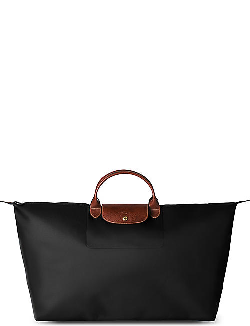 LONGCHAMP Le Pliage large travel bag in black c620e49fc5ab3