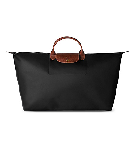 LONGCHAMP Le Pliage large travel bag in black (Black