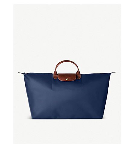 LONGCHAMP Le Pliage large travel bag in navy (Navy