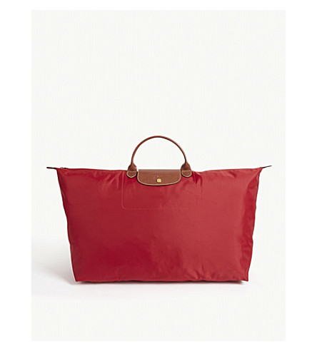 LONGCHAMP Le Pliage large travel bag in red (Red