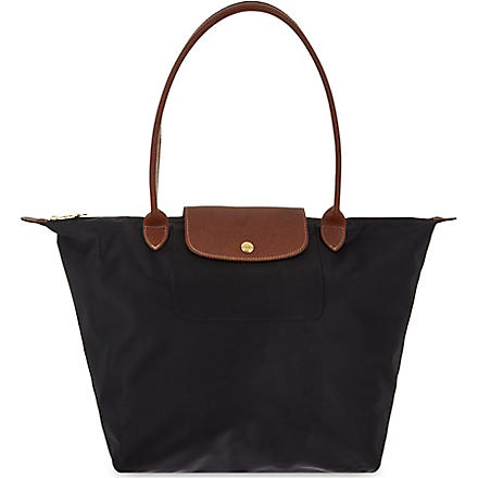 LONGCHAMP Le Pliage large shopper in black (Black
