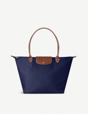 longchamp le pliage large shopper in navy. Black Bedroom Furniture Sets. Home Design Ideas