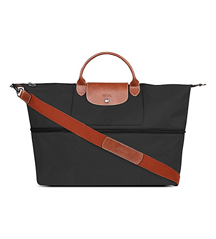 LONGCHAMP Le Pliage travel bag with strap (Noir