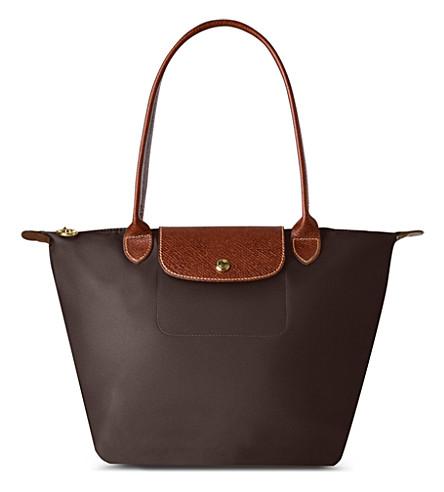 LONGCHAMP Le Pliage small tote bag (Chocolate