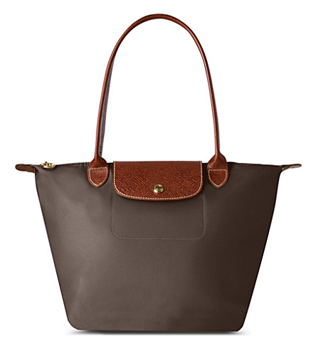 LONGCHAMP Le Pliage small shopper in taupe (Taupe