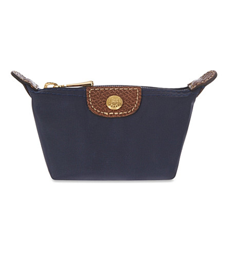 LONGCHAMP Le Pliage coin purse (Navy