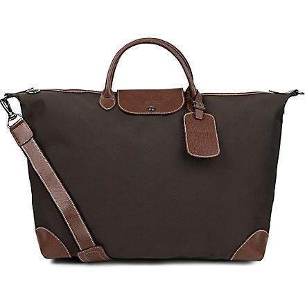 LONGCHAMP Boxford canvas travel bag (Brown