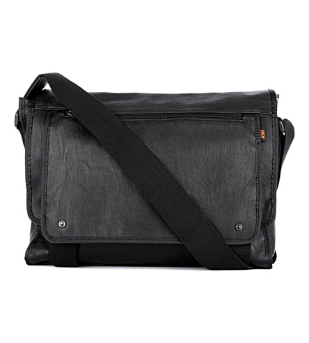 JOST Cult large laptop messenger bag (Black