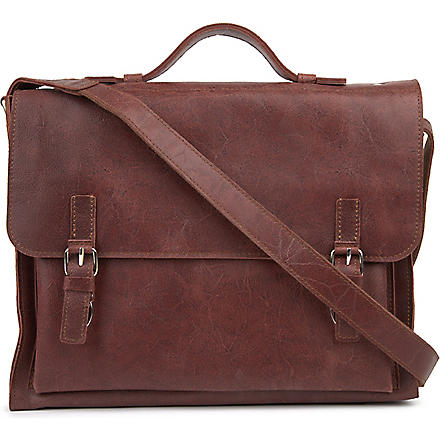 JOST College leather messenger bag (Oxblood