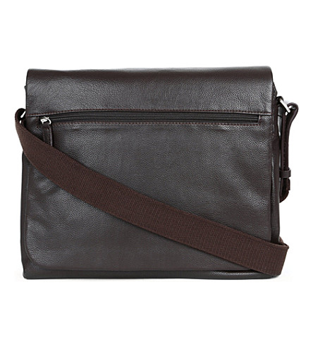JOST Bonn medium leather messenger bag (Brown