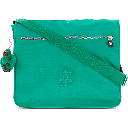 KIPLING Madhouse expandable messenger bag (Cactus+green
