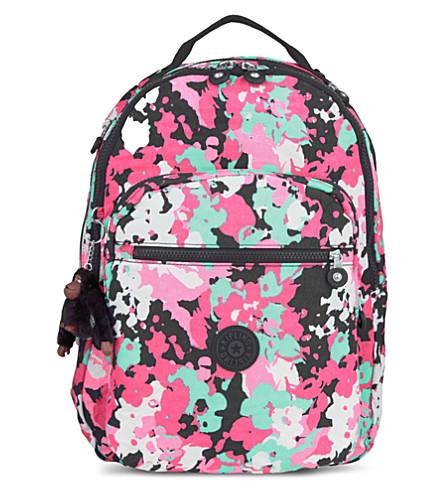 KIPLING Clas Seoul backpack (Print flower