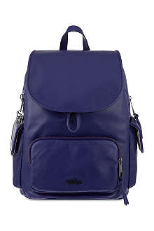 KIPLING Basic leather city backpack