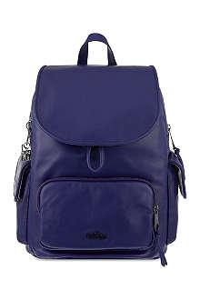 KIPLING Basic leather city backpack