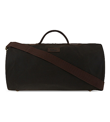 BARBOUR Waxed cotton holdall (Olive