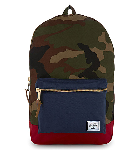 HERSCHEL SUPPLY CO Settlement backpack (Woodland+camo/navy/red