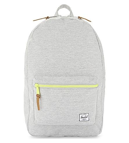 HERSCHEL SUPPLY CO Settlement nylon backpack (Light+grey+crosshatch