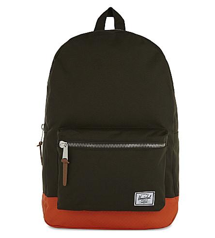 HERSCHEL SUPPLY CO Settlement canvas backpack (Frst+nght/vrmilln+orng
