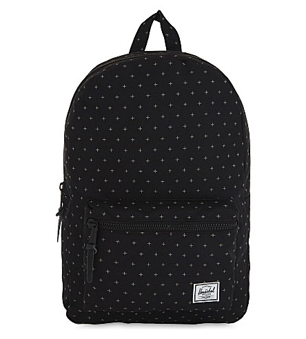 HERSCHEL SUPPLY CO Settlement canvas backpack (Black+gridlock