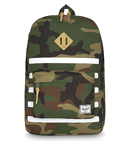 HERSCHEL SUPPLY CO Offset Heritage backpack (Woodland+camo+stripe