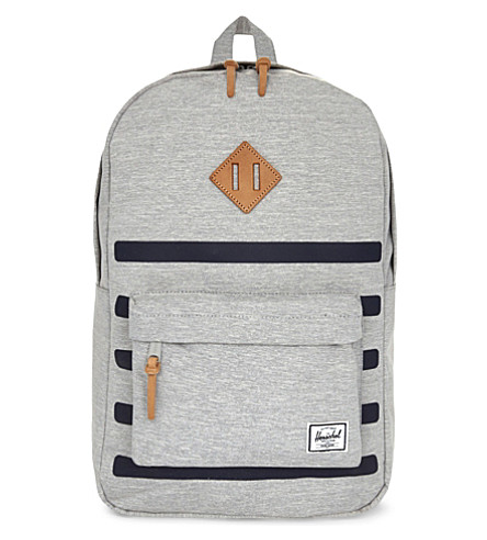 HERSCHEL SUPPLY CO Offset Heritage backpack (Light+greycrostripe