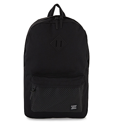 HERSCHEL SUPPLY CO Aspect Heritage backpack (Black+rubber