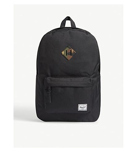 HERSCHEL SUPPLY CO Heritage backpack (Black/woodl+camo+rub