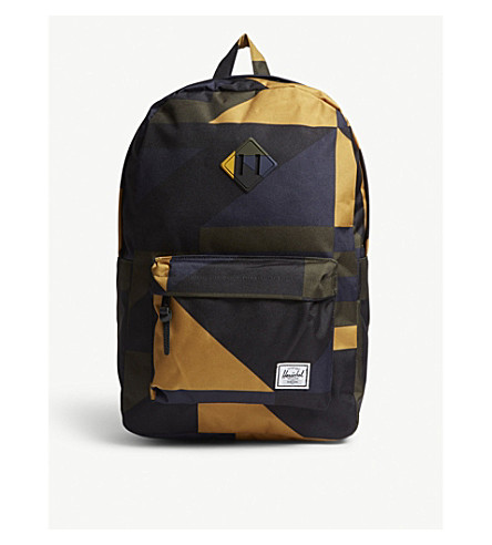 HERSCHEL SUPPLY CO Heritage geometric-print backpack (Arrowwood+frontier+geo