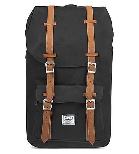 HERSCHEL SUPPLY CO Little America backpack (Black+/+brown+rubber