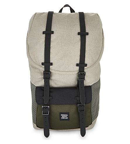 HERSCHEL SUPPLY CO Little America backpack (Lgt+khaki+crss/frst/blk