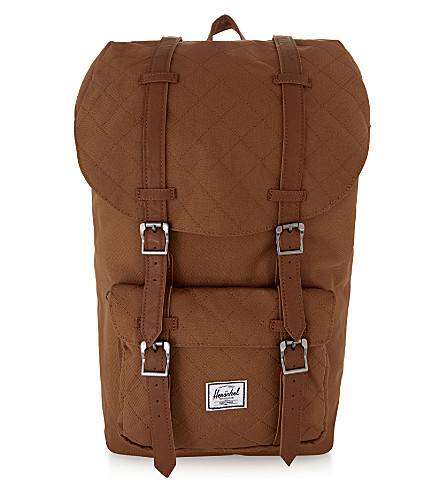 HERSCHEL SUPPLY CO Little America quilted backpack (Caramel