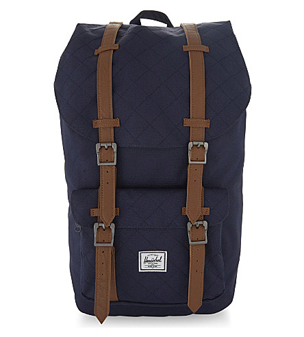 HERSCHEL SUPPLY CO Little America backpack (Blk/blk+rubb/white+inset