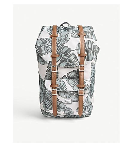 HERSCHEL SUPPLY CO Little America canvas backpack (Silver+birch+palm/tan