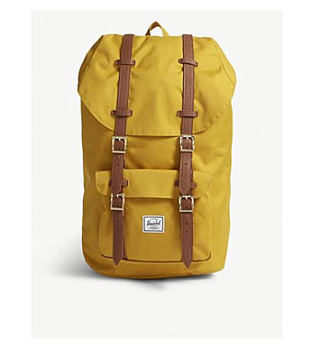 HERSCHEL SUPPLY CO Little America canvas backpack (Arrowwood/tan