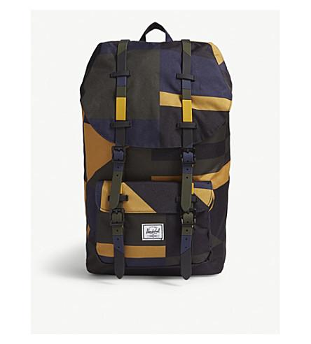 HERSCHEL SUPPLY CO Little America canvas backpack (Arrowwood+frontier+geo 76dc437d9c