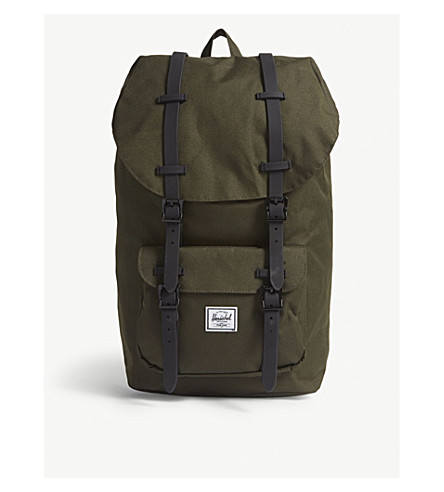 HERSCHEL SUPPLY CO Little America canvas backpack (Forest+night black 1a860084d4