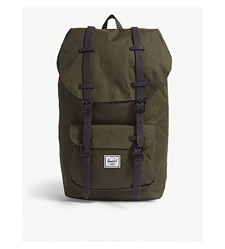HERSCHEL SUPPLY CO Little America canvas backpack (Forest+night/black