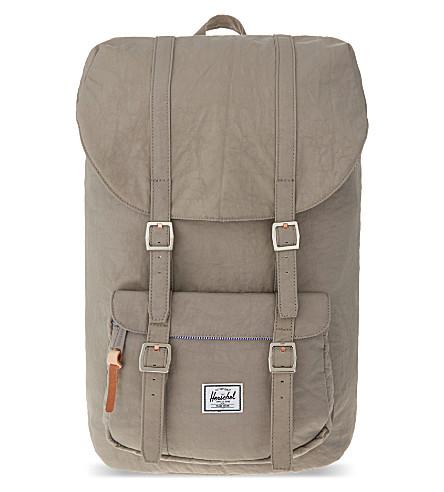 HERSCHEL SUPPLY CO Little America backpack (Agate grey/raw veg tan