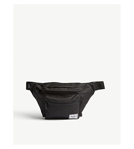 HERSCHEL SUPPLY CO Seventeen canvas bum bag (Black/black