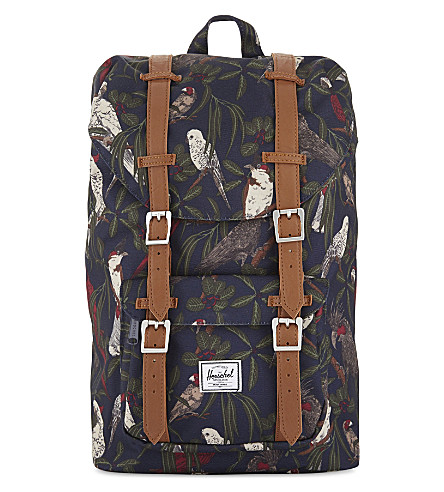 HERSCHEL SUPPLY CO Little America mid-volume backpack (Peacoat+parlour/tan