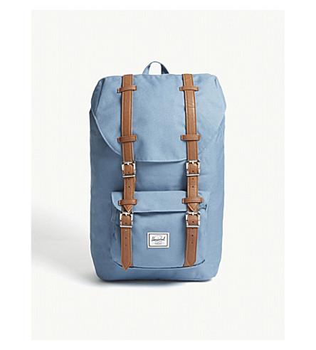 HERSCHEL SUPPLY CO Little America canvas backpack (Aegean+blue/tan