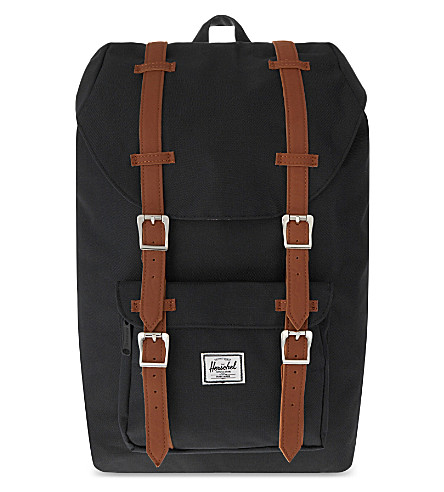 HERSCHEL SUPPLY CO Little America mid backpack (Black/tan