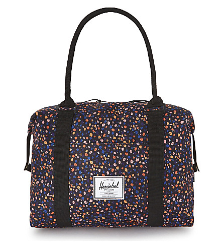 HERSCHEL SUPPLY CO Floral duffel bag (Black+mini+floral