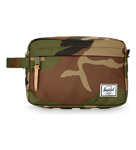 HERSCHEL SUPPLY CO Chapter camouflage canvas travel bag (Woodland+camo+stripe