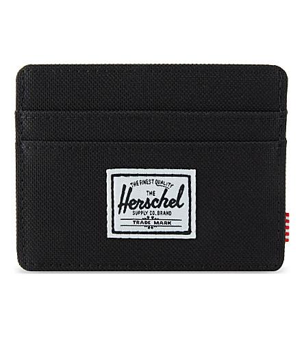 HERSCHEL SUPPLY CO Charlie woven card holder (Black