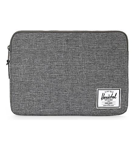 """HERSCHEL SUPPLY CO Anchor 13"""" MacBook 13""""/I-Pad Pro 12.9""""sleeve (Raven+crosshatch"""